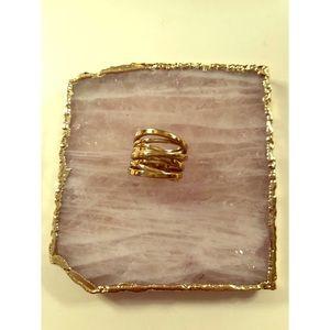 Michael Michael Kors Gold Crossover Ring